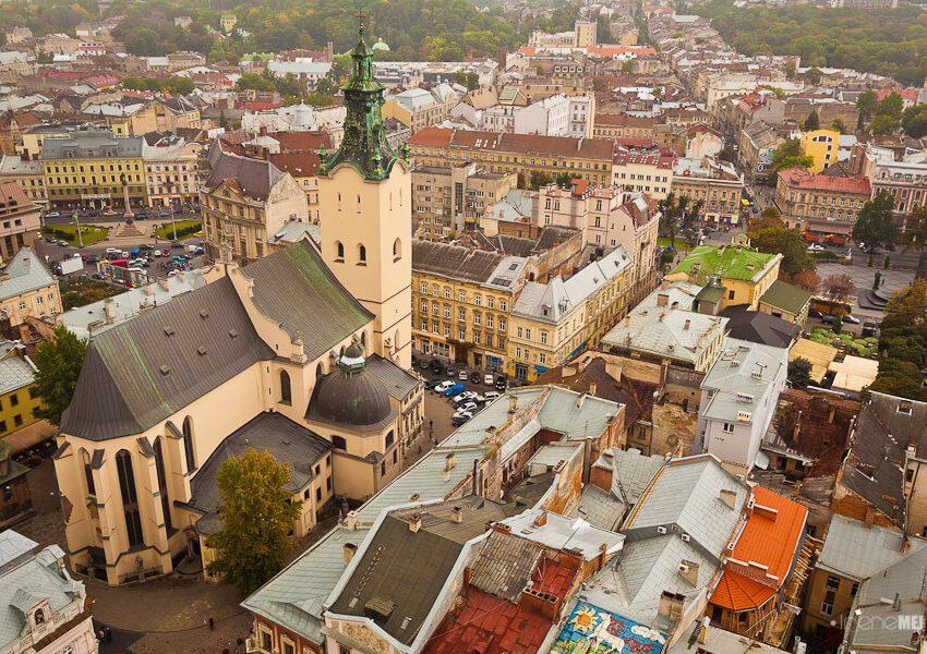 Rynek w centrum Lwowa
